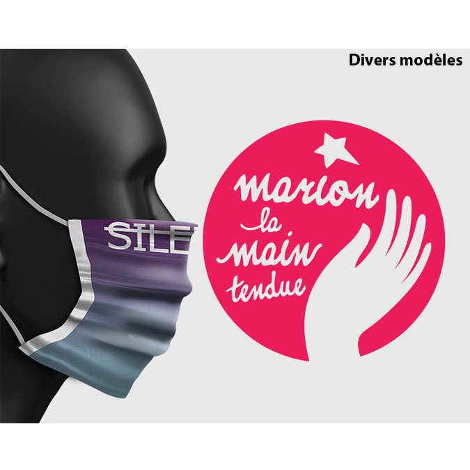 Masque Collection Marie-Agnès Gillot pour Marion la Main Tendue modèle Enfant Silence... enfant