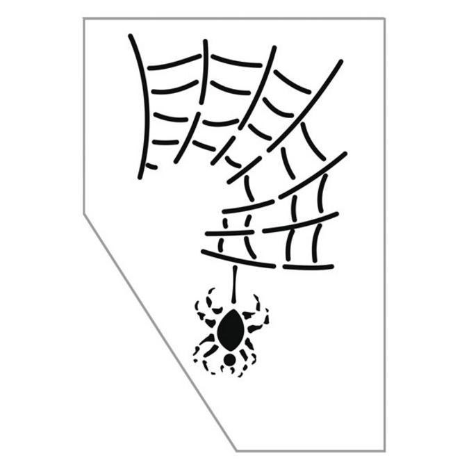 Pochoir maquillage araignée