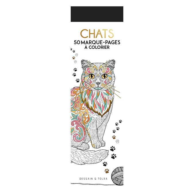 Marque-pages à colorier Chats