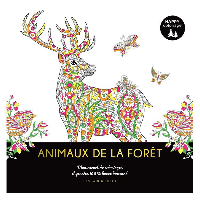 Carnet Happy coloriage Animaux de la forêt