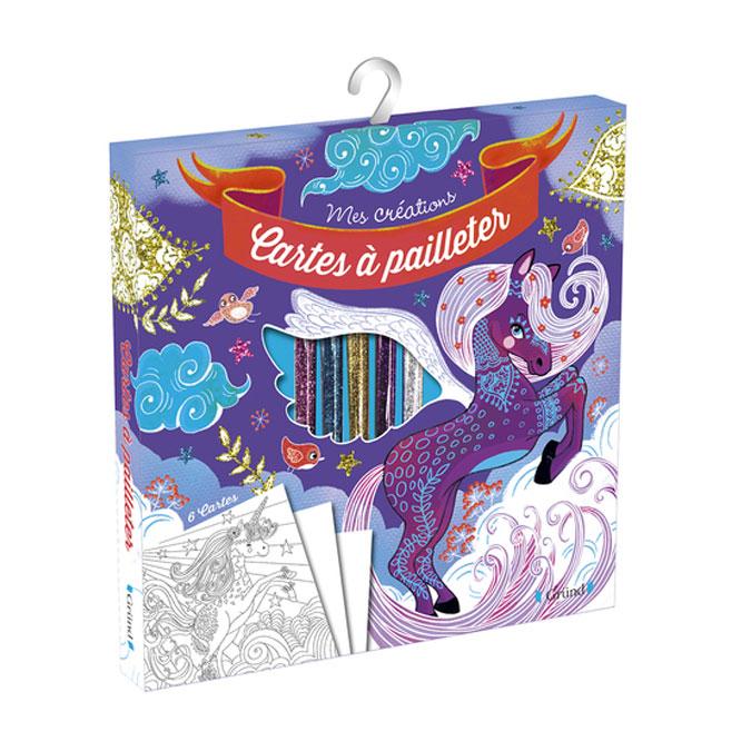 Pochette Mes Créations : Cartes à pailleter Chevaux magiques