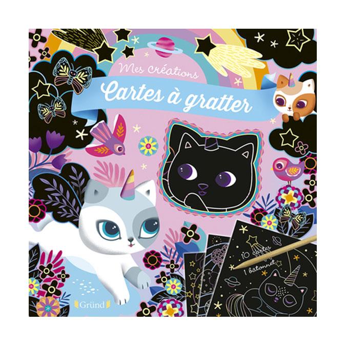 Pochette Mes Créations : Cartes à gratter Chatons magiques