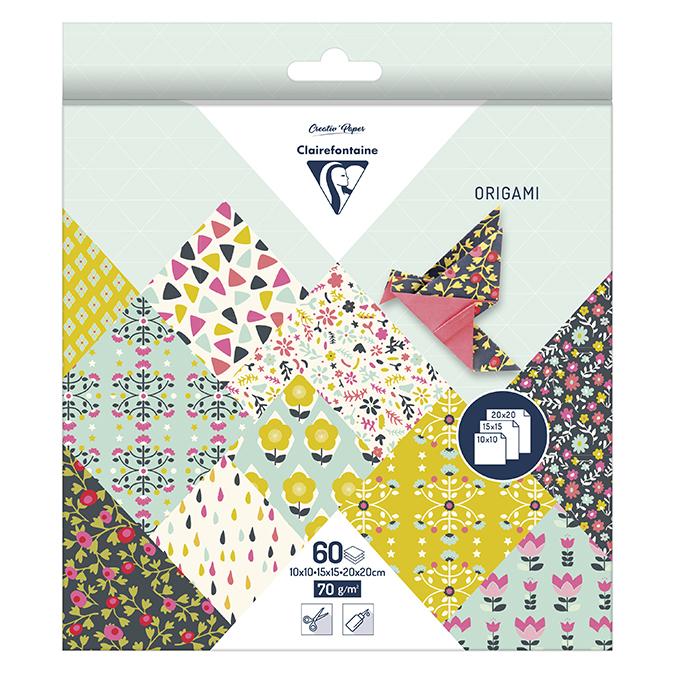 Papier origami Flower 60 feuilles 3 formats
