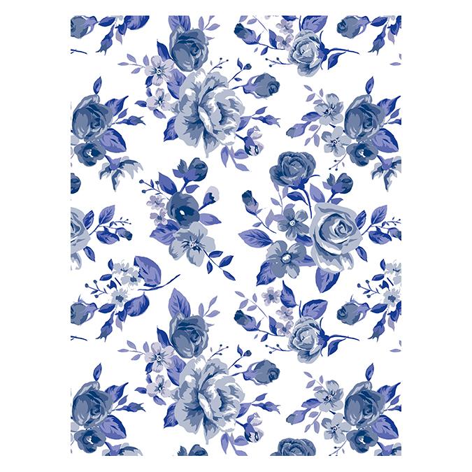 Papier Décopatch 811 Lili blue (porcelaine)