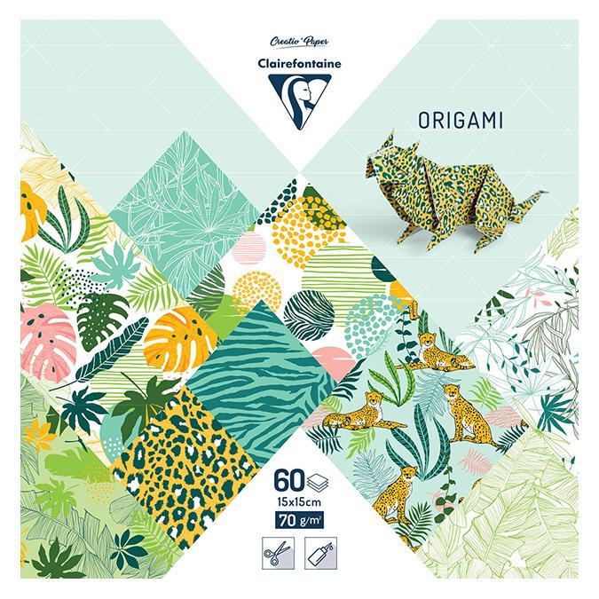 Papier origami Fraîcheur exotique 60 feuilles 15 x 15 cm