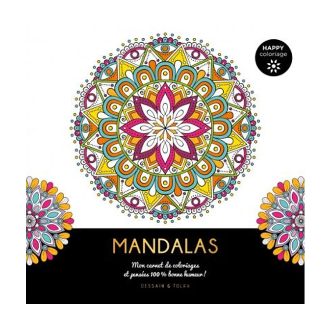 Carnet Happy coloriage Mandalas