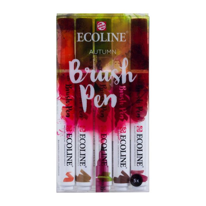 Feutre pinceau Ecoline Brush Pen Set L'automne 5 pcs