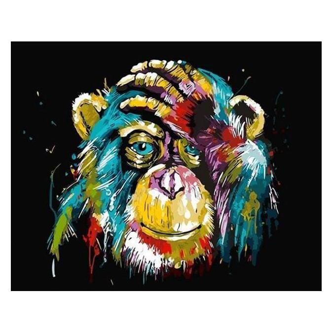 Peinture par numéros Babouin Pop Art