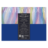 Bloc de papier 300 g/m² Grain Fin Watercolour collé 1 côté 12F
