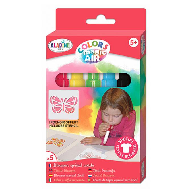 Feutre aérographe textile Colors Magic Air 5 pcs