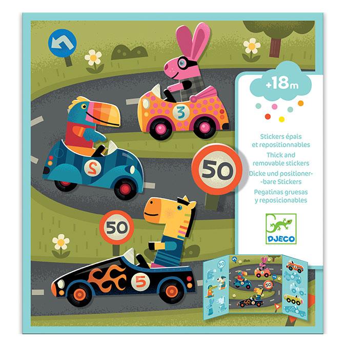 Stickers des petits Les voitures