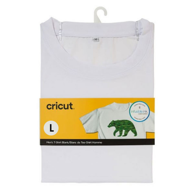 T-shirt blanc col rond Taille L