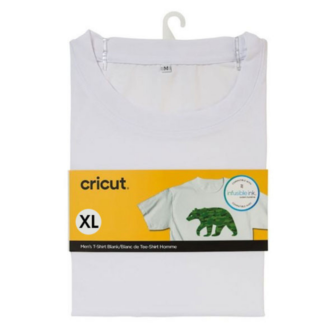 T-shirt blanc col rond Taille XL