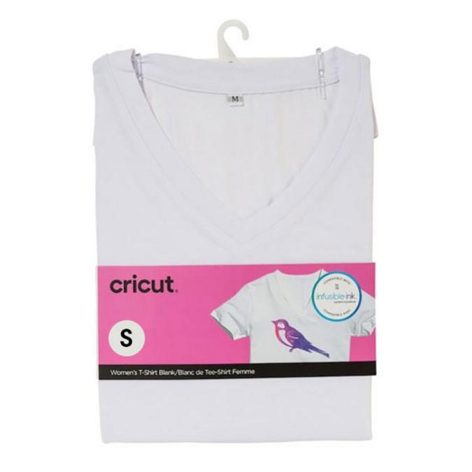 T-shirt blanc col V Taille L