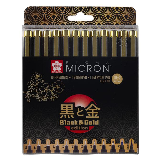 Feutre Pigma Pigma Black & Gold Edition Set de 12