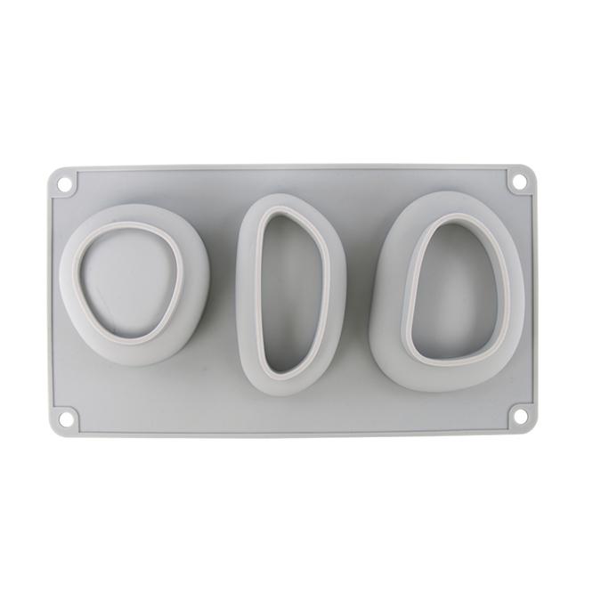 Moule en silicone Galets 3 formes