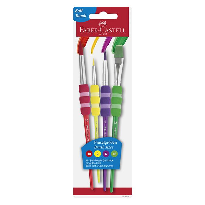 Pinceau Soft touch Set couleur 4 tailles