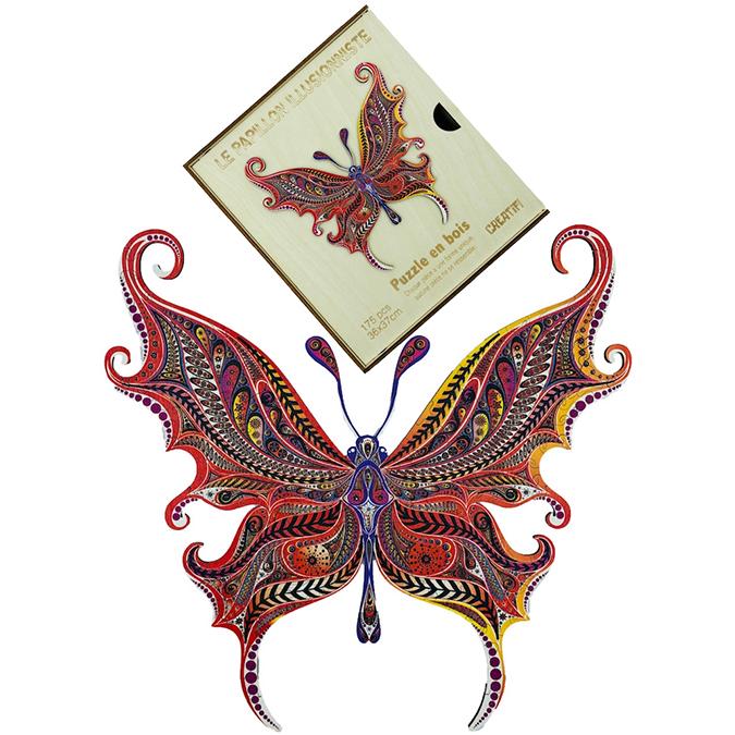 Puzzle en bois Le Papillon Illusionniste