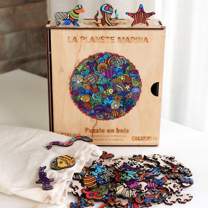 Puzzle en bois La planète Marina