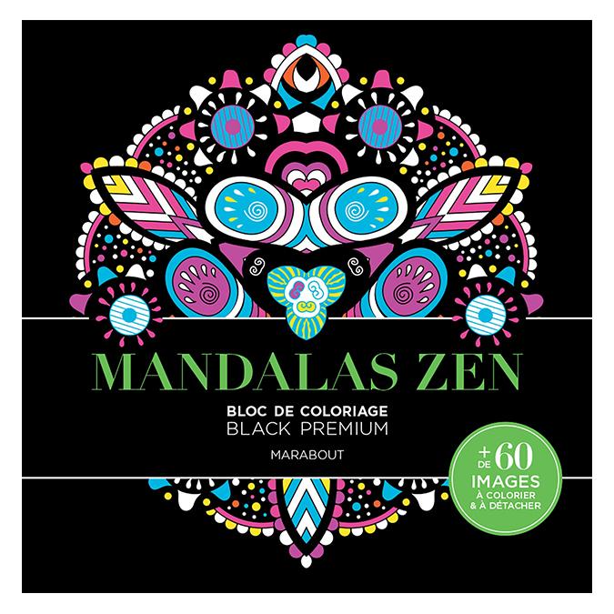 Bloc de coloriage Black Premium Mandalas Zen