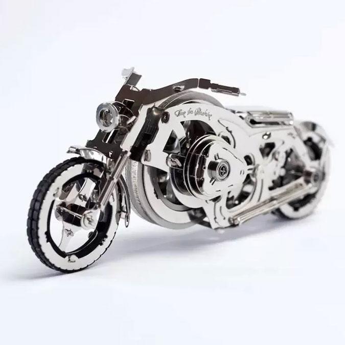Puzzle 3D mécanique en métal Chrome Rider