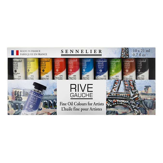 Peinture à l'huile fine Rive Gauche Set 10 x 21 ml