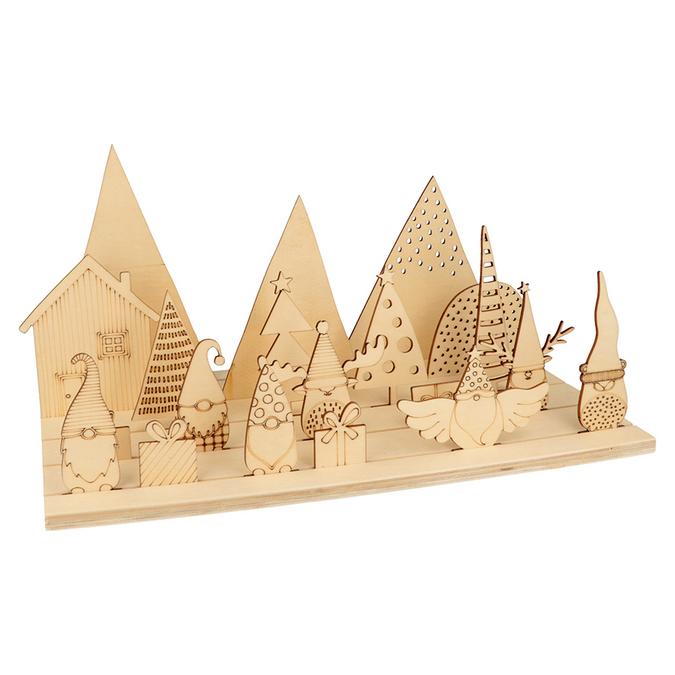 Scène décorative en bois Imagine Christmas