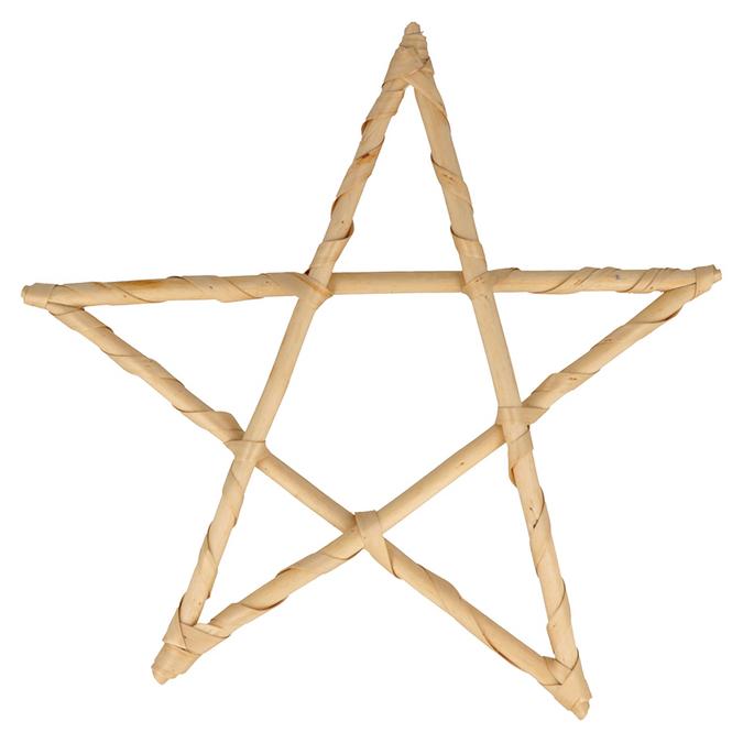 Étoile en osier 30 cm