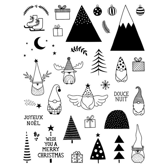 Tampon transparent non monté Imagine Christmas