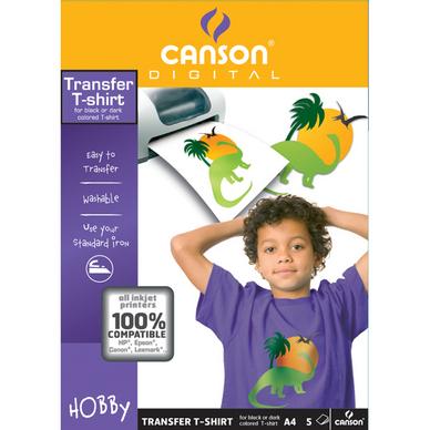 Papier transfert pour t-shirt tissus foncé