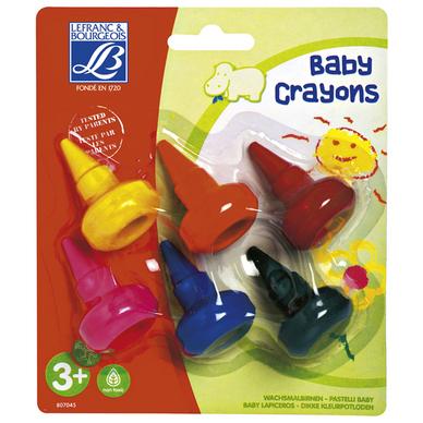 Crayons A La Cire Empilables Pour Bebe 6 Pieces Lefranc Bourgeois