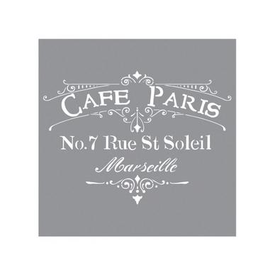 Pochoir Motif Café De Paris 30 X 30 Cm