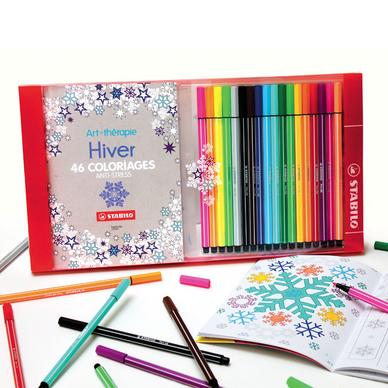 Coffret De Coloriage Anti Stress Pen 68 1 Carnet A Colorier Stabilo Chez Rougier Ple