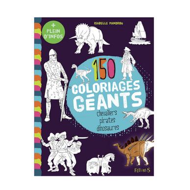 Coloriage Geant Chevalier.150 Coloriages Geants Chevaliers Pirates Dinosaures Fleurus Chez