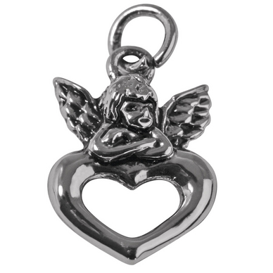 2 pendentifs breloques coeur métallique argenté strass couleur 12x 10 mm