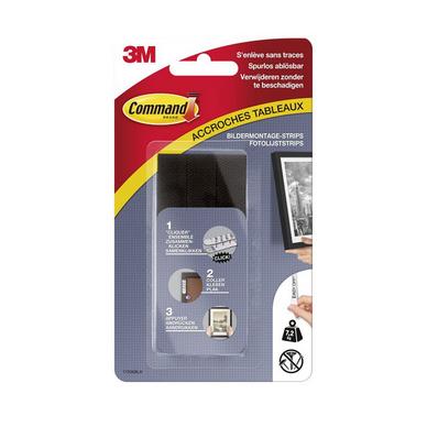 Accroche Tableau Adhesive 4 X 2 Languettes Noires 7 2 Kg