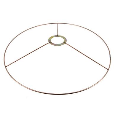 carcasse d'abat-jour cercle bagué e27 Ø 35 cm cuivre fil cuivré (le