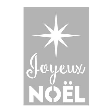 pochoir joyeux noel Pochoir Joyeux Noël 10 x 15 cm Artemio chez Rougier & Plé pochoir joyeux noel