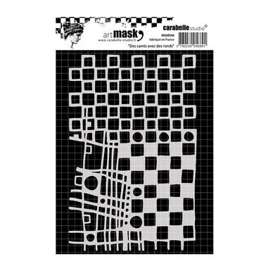 CARABELLE STUDIO Masque MA60063 Pochoir patron A6 avec cercles